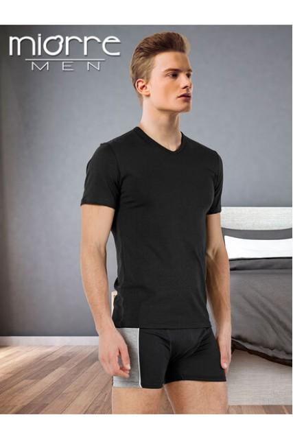Λευκη βαμβακερη μπλουζα με V λαιμοκοψη