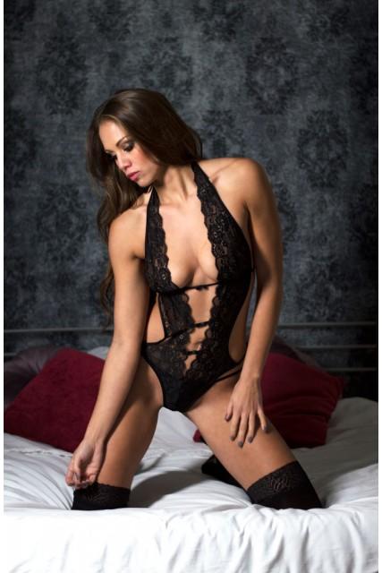Sexy Black Lace Teddy Perfect4U